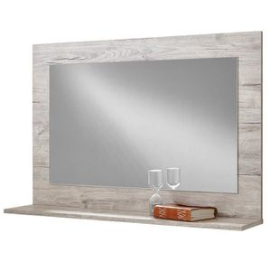 Miroir cadre bois achat vente miroir cadre bois pas cher les soldes sur cdiscount cdiscount for Long miroir mural pas cher