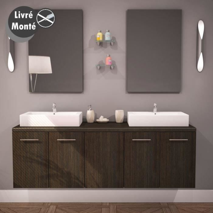 jena ensemble salle de bain double vasque 150cm achat vente ensemble meuble sdb jena double. Black Bedroom Furniture Sets. Home Design Ideas
