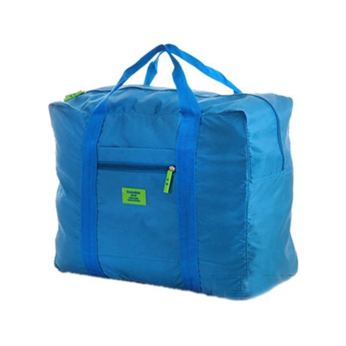 sac de voyage pliable solide zipp trousse de bagage imperm able l ger en nylon pers pers. Black Bedroom Furniture Sets. Home Design Ideas
