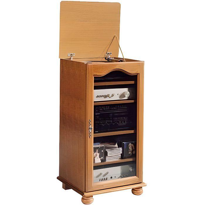 rack hifi 1 porte vitr e vence achat vente meuble tv