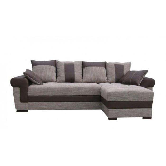 Canap d 39 angle tissu 4 places quin achat vente canap sofa divan - Canape tissu 4 places ...