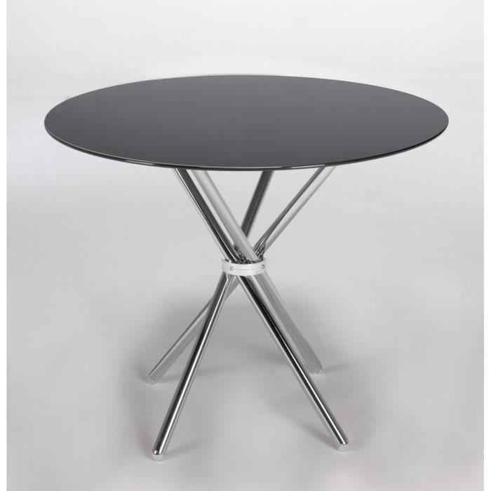 Table ronde en verre avec chaises achat vente table for Table ronde avec chaise pas cher