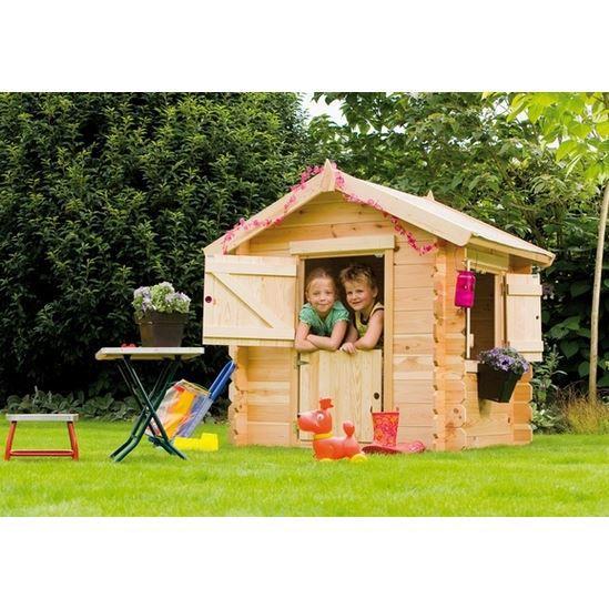 Maisonnette Enfant Bois LITTLE PARK L135xP110xH145 - Achat / Vente ...