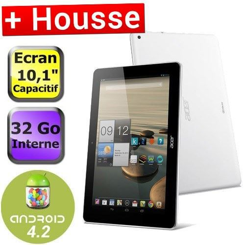 acer iconia a3 a10 32go blanc housse achat vente tablette tactile acer iconia a3 a10 32go