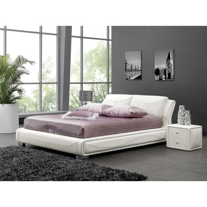 structure lit avec tete de lit sommier coffre achat. Black Bedroom Furniture Sets. Home Design Ideas