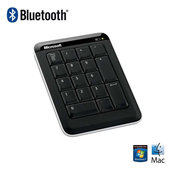microsoft bluetooth number pad achat vente pav num rique microsoft bluetooth number pad. Black Bedroom Furniture Sets. Home Design Ideas