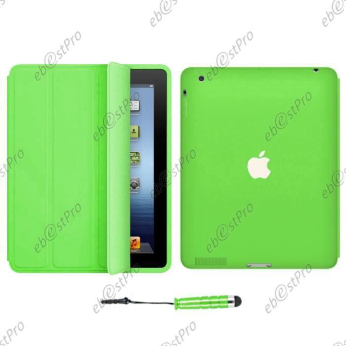 Pour apple ipad 4 3 2 etui housse smart cover coque for Housse pour ipad 3