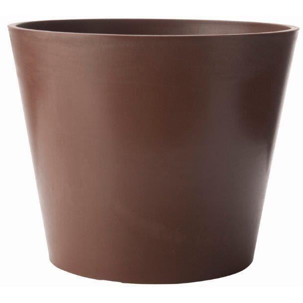Pot rond amsterdan c dre en poly thyl ne 40x33 3cm pour - Pots jardinieres soldes ...