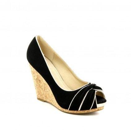 Chaussure Femme Compens Es Candy Noir Achat Vente Chaussure Femme Compens Es Noir Pas
