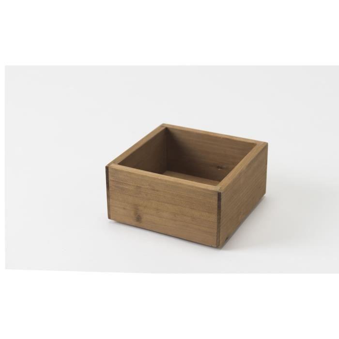 bo te vintage de rangement taille s achat vente boite de rangement bois cdiscount. Black Bedroom Furniture Sets. Home Design Ideas