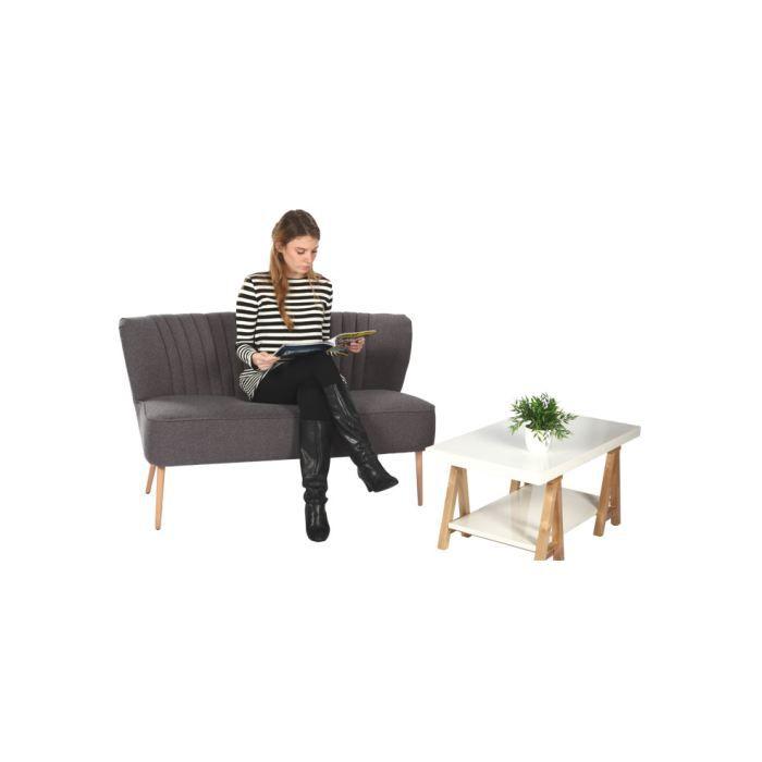 canap cottage gris achat vente canap sofa divan. Black Bedroom Furniture Sets. Home Design Ideas