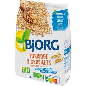 CÉRÉALES PETIT DEJ  BJORG Porridge 3 Céréales Bio 375g