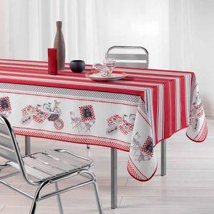 Nappe bistrot achat vente nappe bistrot pas cher cdiscount - Nappe de table rectangulaire pas cher ...