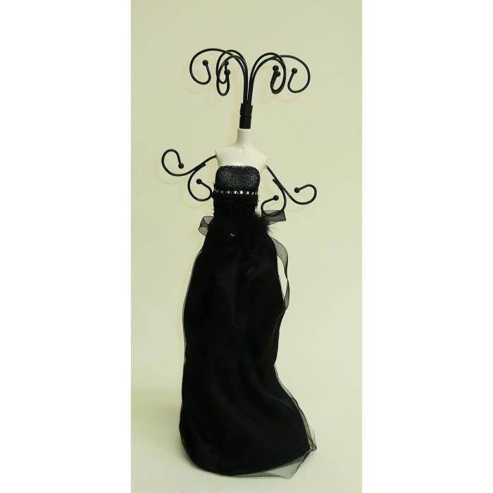 Buste porte bijoux mannequin robe noir achat vente - Porte bijoux buste ...