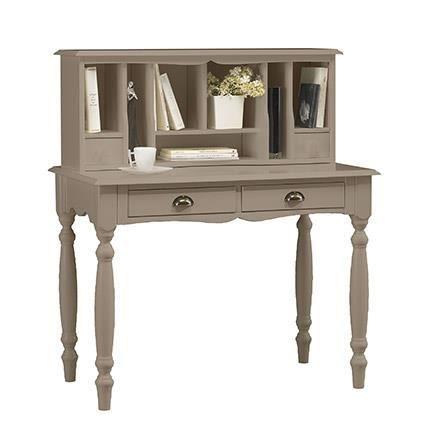 bonheur du jour taupe charme achat vente bureau bonheur du jour taupe charme bois mdf. Black Bedroom Furniture Sets. Home Design Ideas