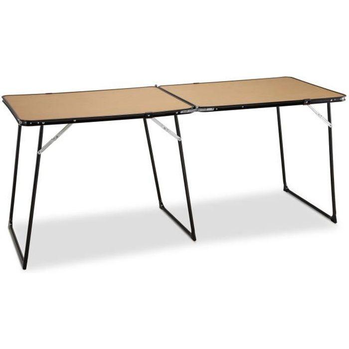Brilliant Table de Camping Double Durolac, marron et blanc, Plateau sprélafas  700 x 700 · 25 kB · jpeg