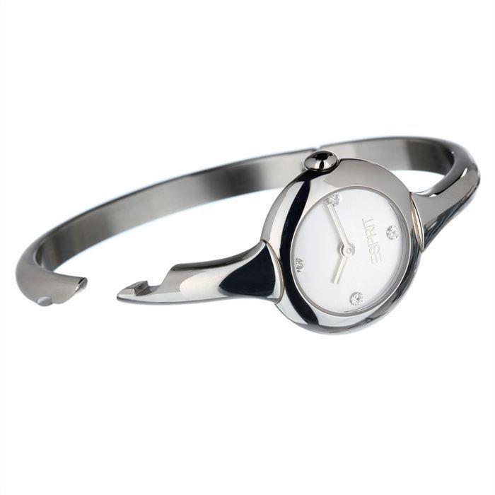 Esprit Montre Bijou Femme. Coloris argent , Bracelet