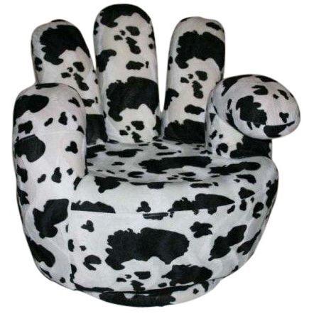 fauteuil main d cor vache achat vente fauteuil bois tissu cdiscount. Black Bedroom Furniture Sets. Home Design Ideas