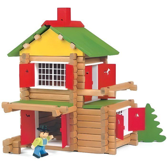jeujura mon chalet en bois 135 pi ces achat vente assemblage construction jeujura mon. Black Bedroom Furniture Sets. Home Design Ideas