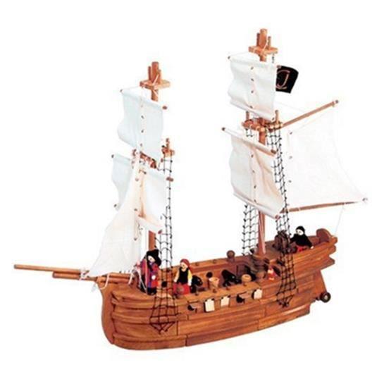 grand bateau pirate en bois achat vente maquette de. Black Bedroom Furniture Sets. Home Design Ideas