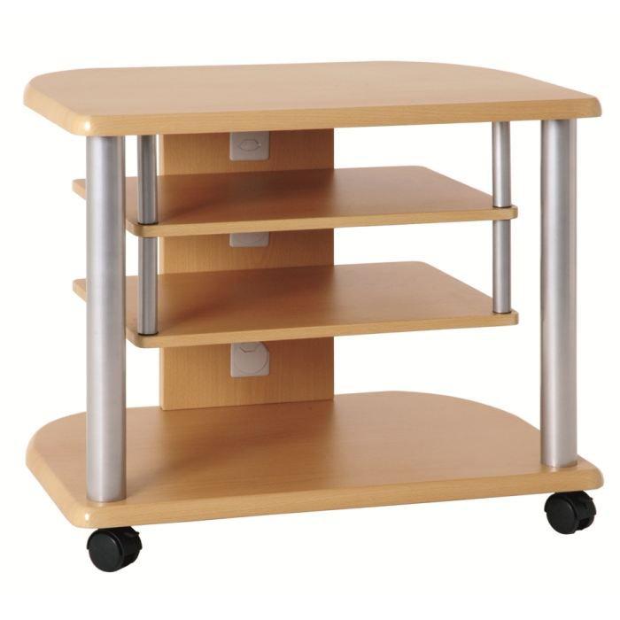 meuble tv ross alu et couleur h tre achat vente meuble tv meuble tv ross alu et coule mdf. Black Bedroom Furniture Sets. Home Design Ideas