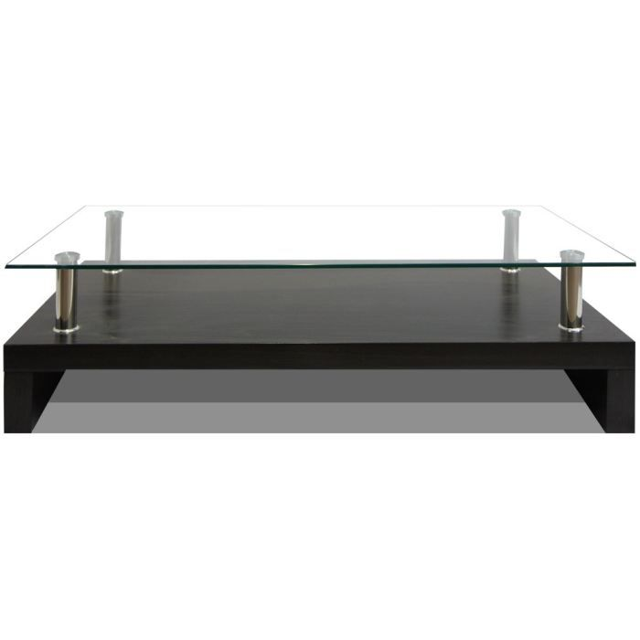 Table basse rectangle en verre edgar weng achat for Meuble edgar