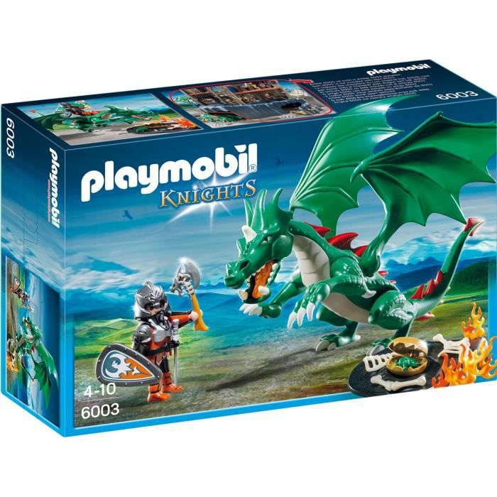 playmobil 6003 chevalier grand dragon vert achat vente univers miniature cdiscount. Black Bedroom Furniture Sets. Home Design Ideas