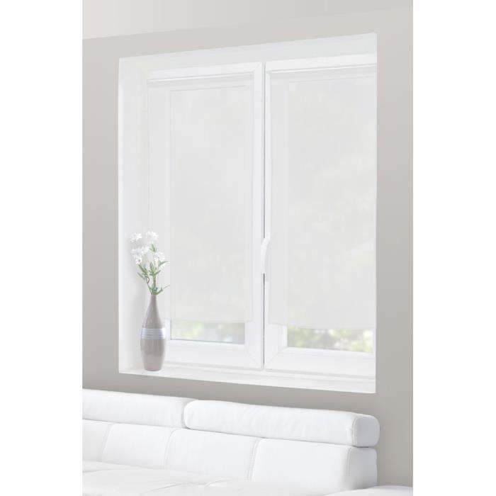 paire de voilage vitrage 60 x 120 cm traits tissees blanc achat vente rideau les soldes. Black Bedroom Furniture Sets. Home Design Ideas