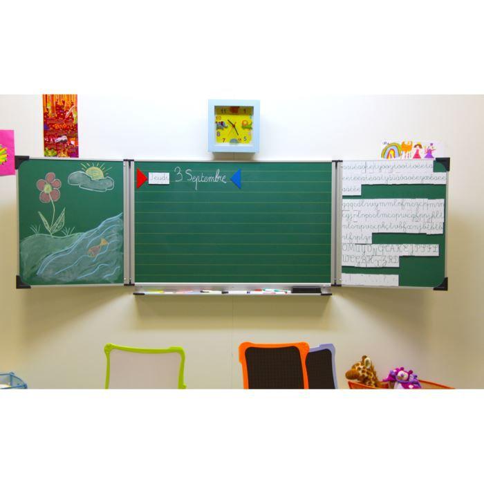 mon tableau d 39 cole la maison 60 x 100 cm vert achat vente tableau enfant soldes cdiscount. Black Bedroom Furniture Sets. Home Design Ideas