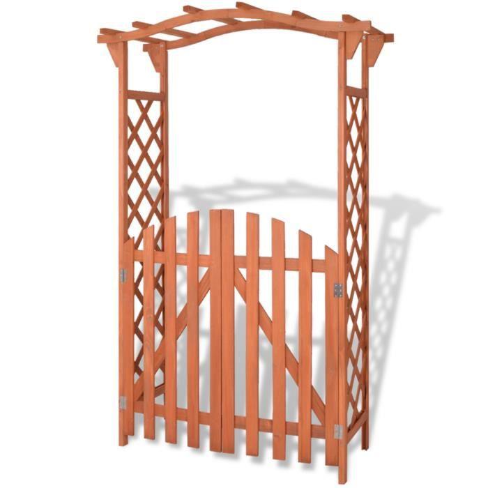 arche de jardin en bois achat vente arche de jardin en bois pas cher cdiscount. Black Bedroom Furniture Sets. Home Design Ideas