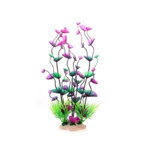 Plante artificielle fleur aquatique plastique violet bleu for Deco plante artificielle