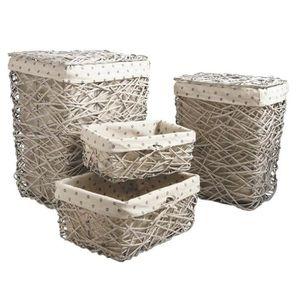 corbeille linge osier achat vente corbeille linge osier pas cher cdiscount. Black Bedroom Furniture Sets. Home Design Ideas