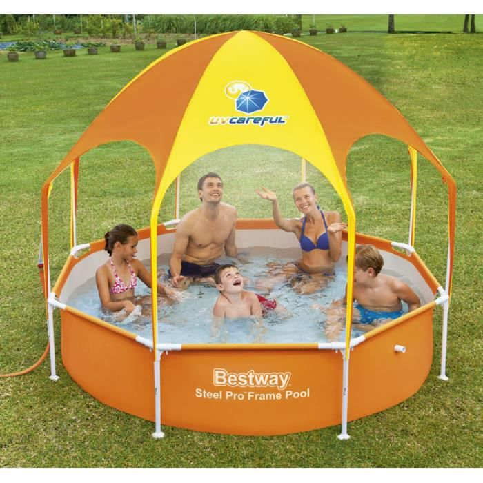 Piscine tubulaire ronde 2 44 x 0 51m bestway achat for Piscine tubulaire ronde 2 44