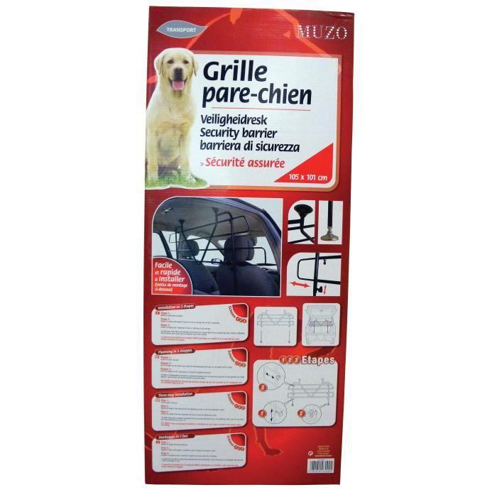 Grille pare chien muzo achat vente filet de protection - Grille protection chien pour voiture ...