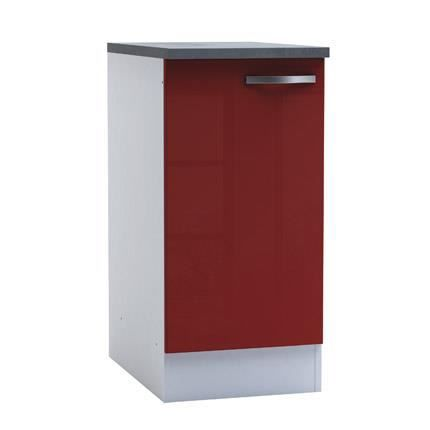 Meuble bas de cuisine 1 porte 40cm coloris ro achat for Meuble porte four