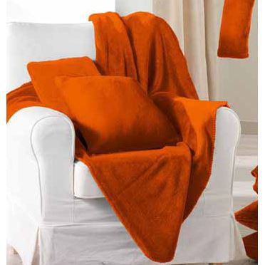 plaid polaire montana 130 x 160 cm brique achat vente couverture plaid cdiscount. Black Bedroom Furniture Sets. Home Design Ideas