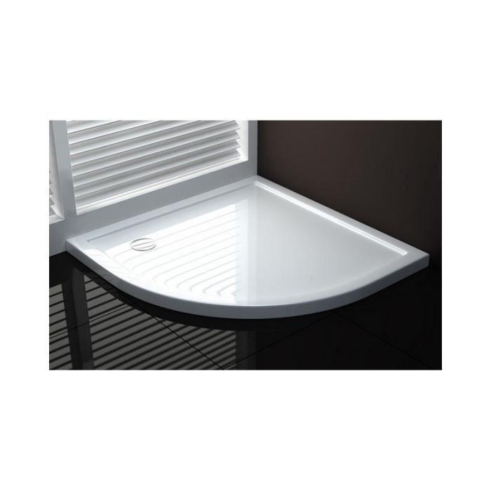 receveur douche 80x80 blanc achat vente receveur douche 80x80 blanc pas cher cdiscount. Black Bedroom Furniture Sets. Home Design Ideas