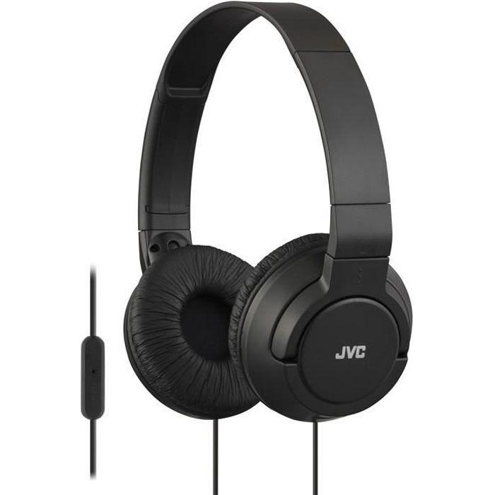 jvc hasr 185e casque audio pliable noir avec micro casque couteur avis et prix pas cher. Black Bedroom Furniture Sets. Home Design Ideas