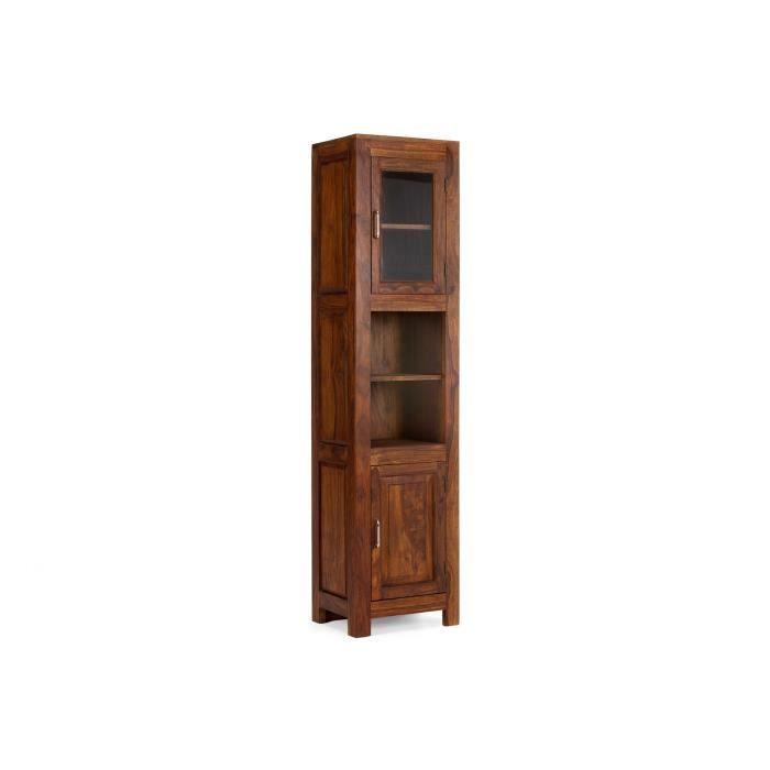 armoire haute cubus 185cm en palissandre laqu miel. Black Bedroom Furniture Sets. Home Design Ideas