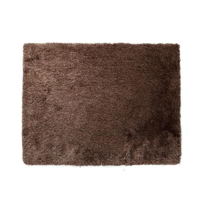 Miliboo tapis shaggy chocolat 160x230 cm ugo achat - Tapis shaggy chocolat ...