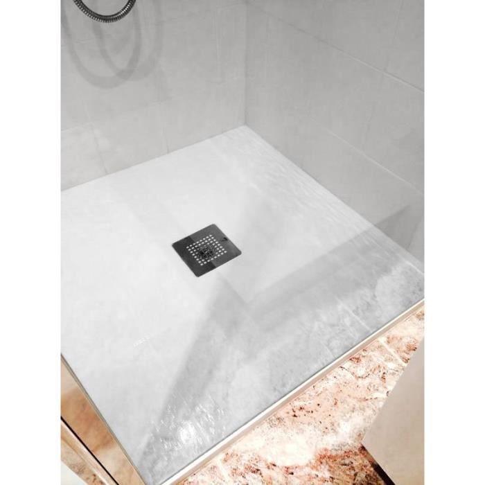 mitola receveur en r sine composite liwa 80x80 blanc achat vente receveur de douche receveur. Black Bedroom Furniture Sets. Home Design Ideas