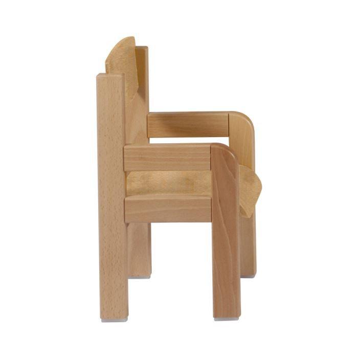 Fauteuil enfant en h tre massif 3 7 ans winni beige for Chaise en bois avec accoudoir