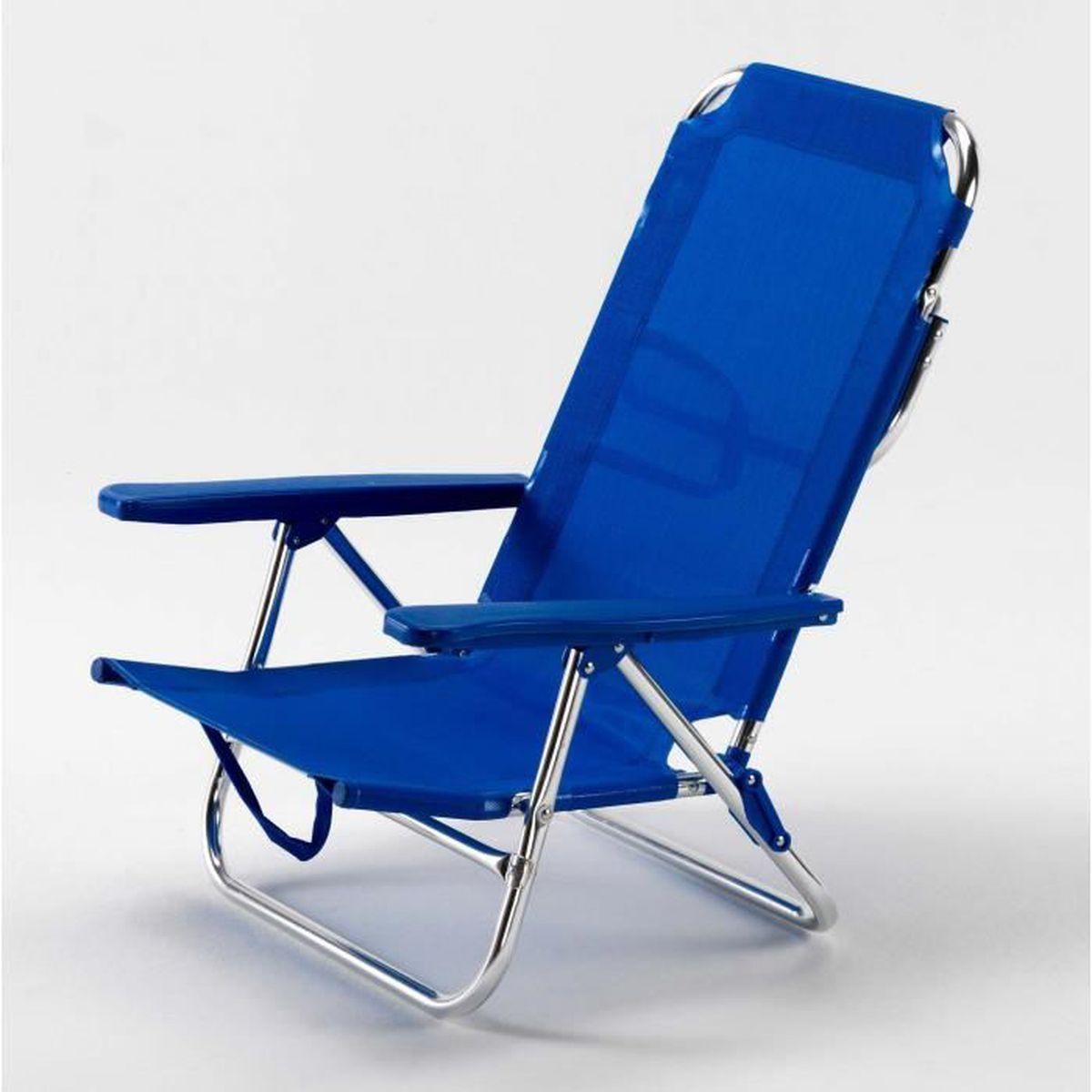 chaise de plage transat pliante fauteuil piscine aluminium gargano achat vente chaise longue. Black Bedroom Furniture Sets. Home Design Ideas