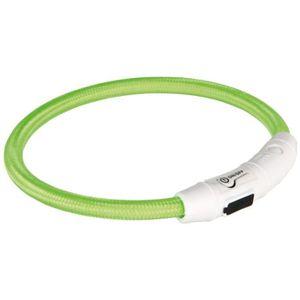 TRIXIE Flash Anneau lumineux USB XS?S: 35 cm/? 7 mm vert pour chien