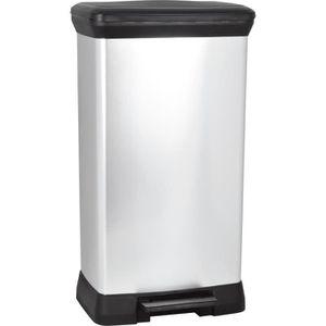 poubelle de 42 56 litres achat vente poubelle de 42 56 litres pas cher cdiscount. Black Bedroom Furniture Sets. Home Design Ideas