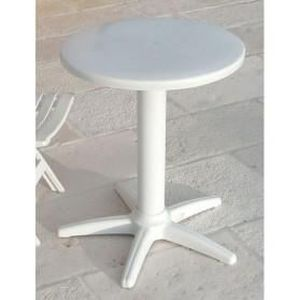 Table Ronde Caf Blanc Achat Vente Table De Jardin Table Ronde Caf Blanc Cdiscount