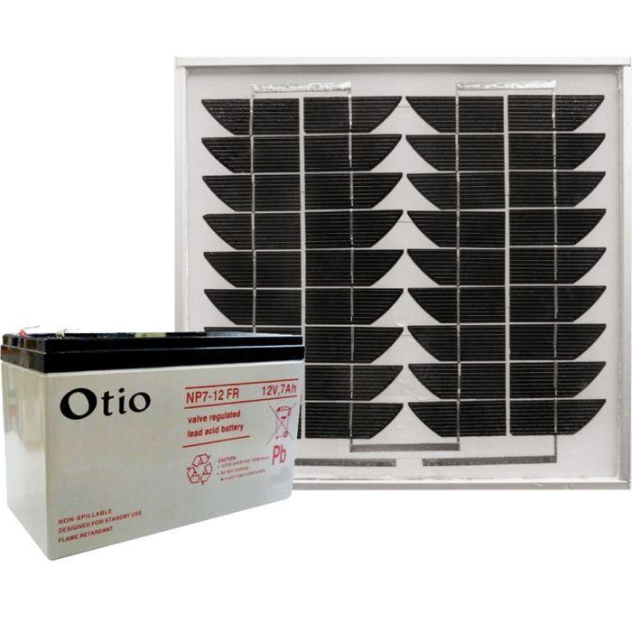 otio kit solaire pour motorisation de portail achat. Black Bedroom Furniture Sets. Home Design Ideas