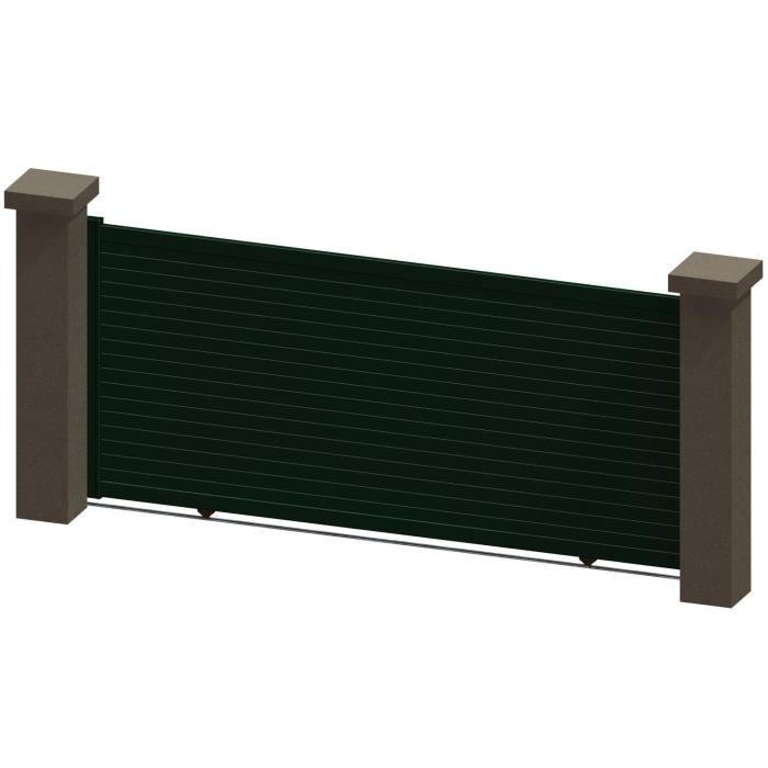 portail coulissant en aluminium salma vert 3 5m manuel autour du portail achat vente. Black Bedroom Furniture Sets. Home Design Ideas