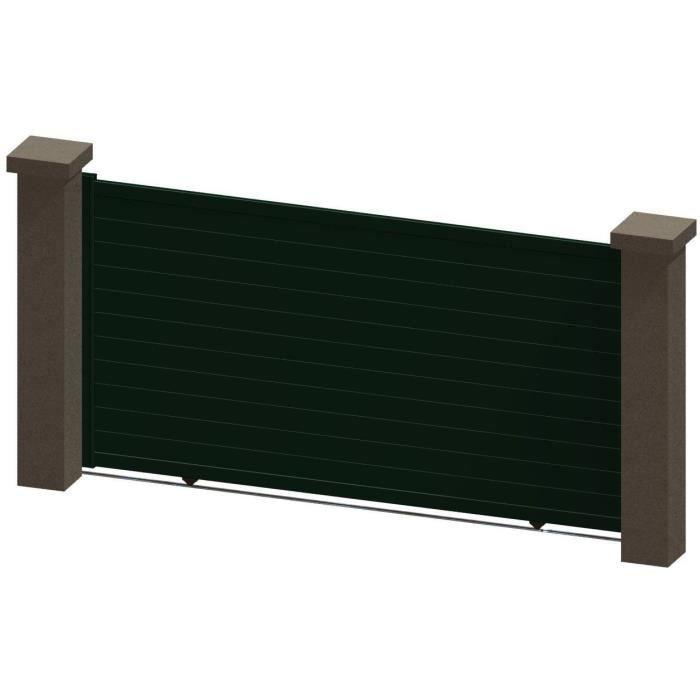 portail coulissant en aluminium ina vert 3 5m manuel achat vente portail portillon. Black Bedroom Furniture Sets. Home Design Ideas