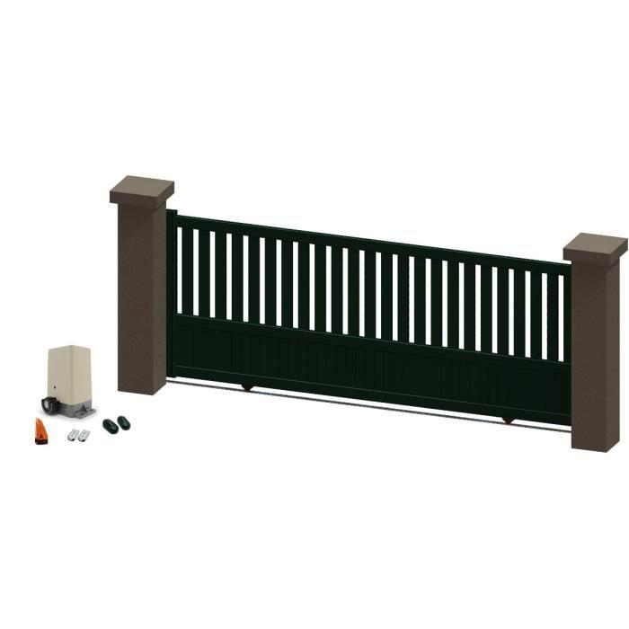 portail coulissant en aluminium jania vert 3 5m motoris autour du portail achat vente. Black Bedroom Furniture Sets. Home Design Ideas